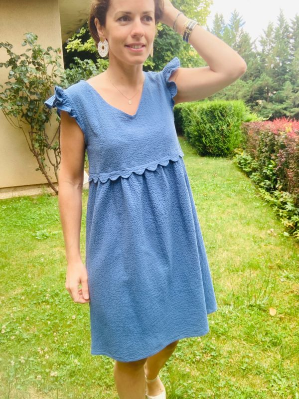 robe festons-couture-femme-vetement-bcouture-lyon-creation-robe